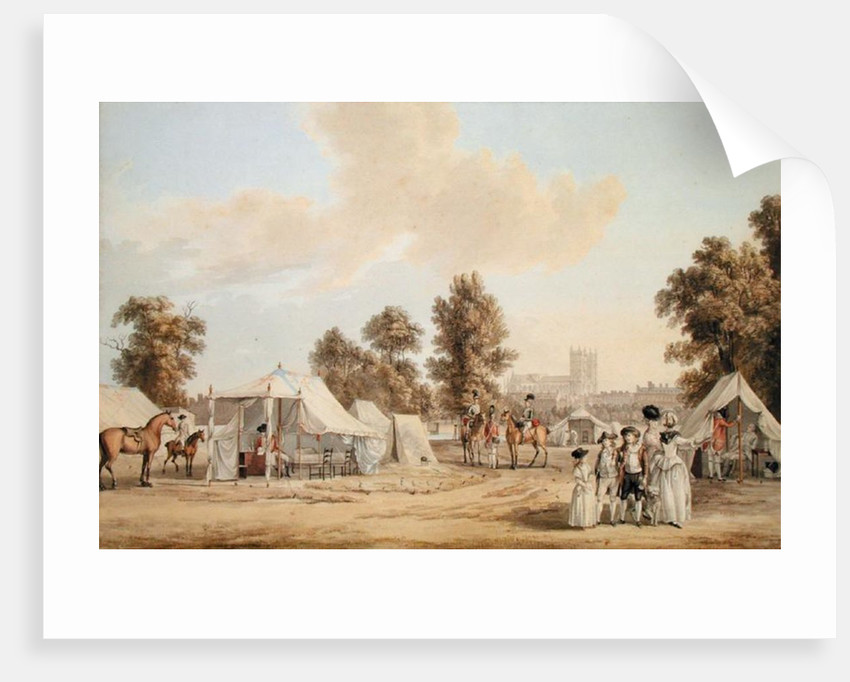 An encampment in St. James's Park by Paul Sandby