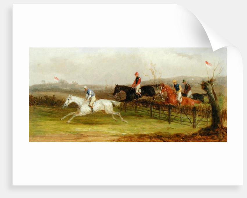 Steeplechasing: The Brook by William Joseph Shayer
