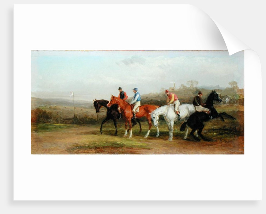 Steeplechasing: At the Start by William Joseph Shayer