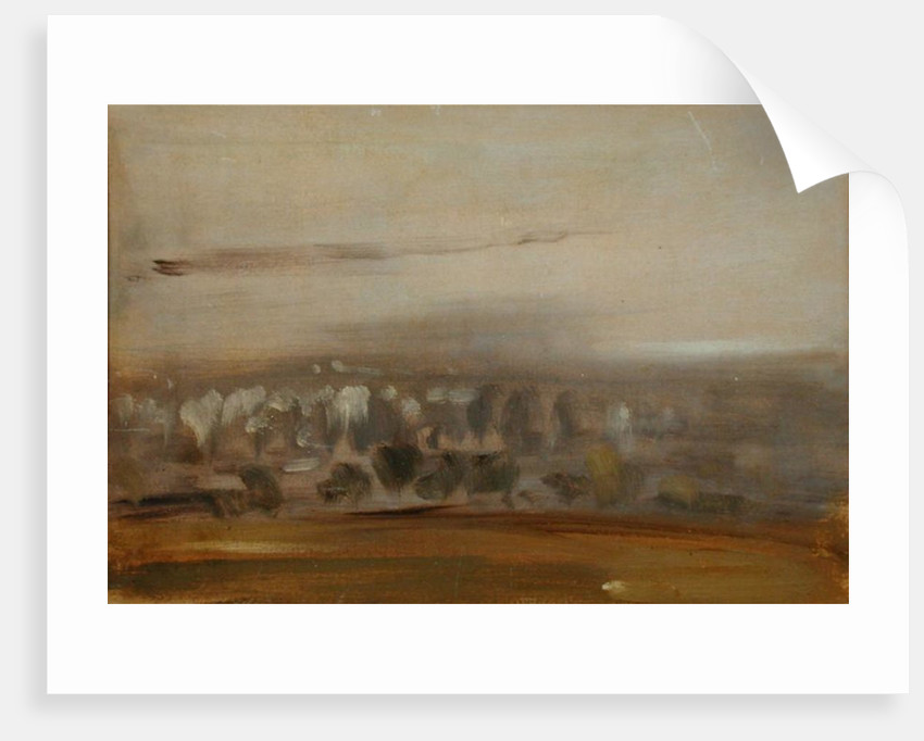 Landscape with Trees on a Slope by English School