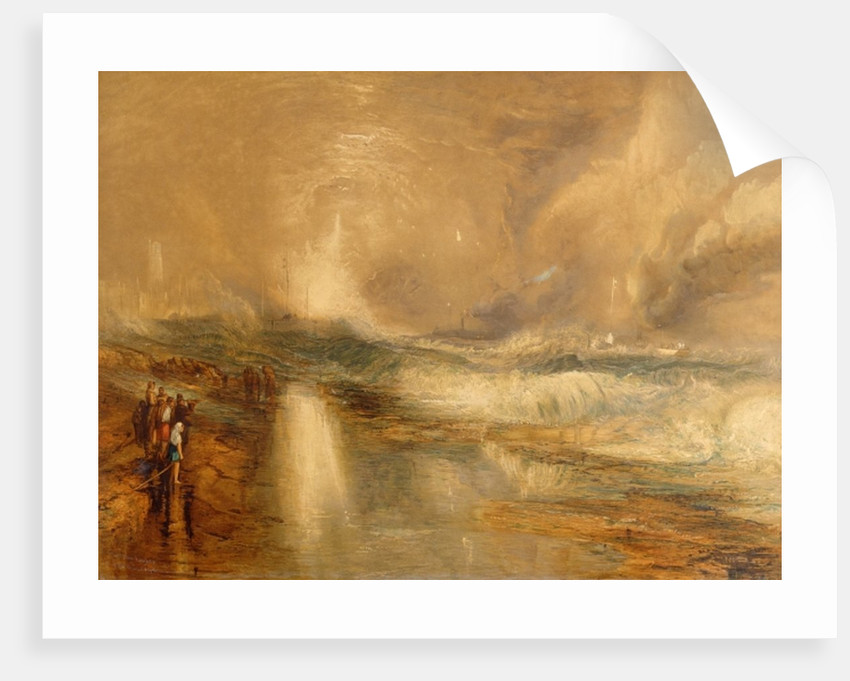 Rockets and Blue Lights by Joseph Mallord William Turner