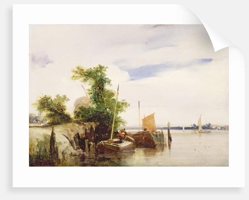 Barges on a River by Richard Parkes Bonington