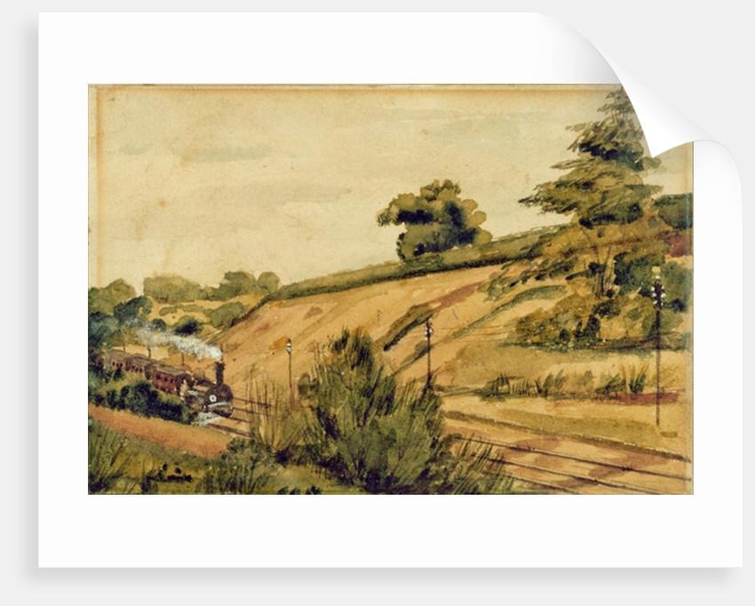Landscape with Train by Edward W. Fitch