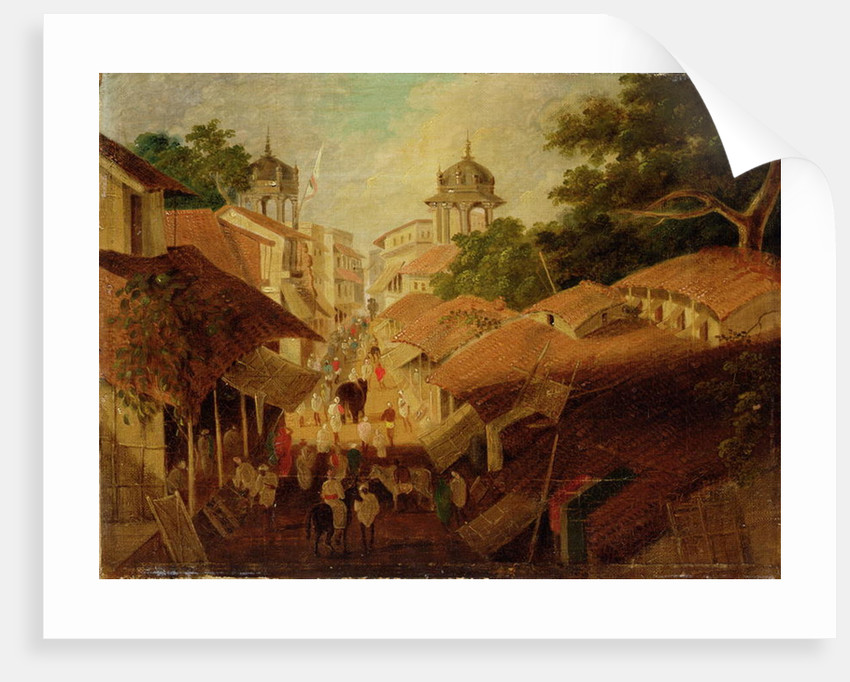 Street in Patna by Charles D'Oyly