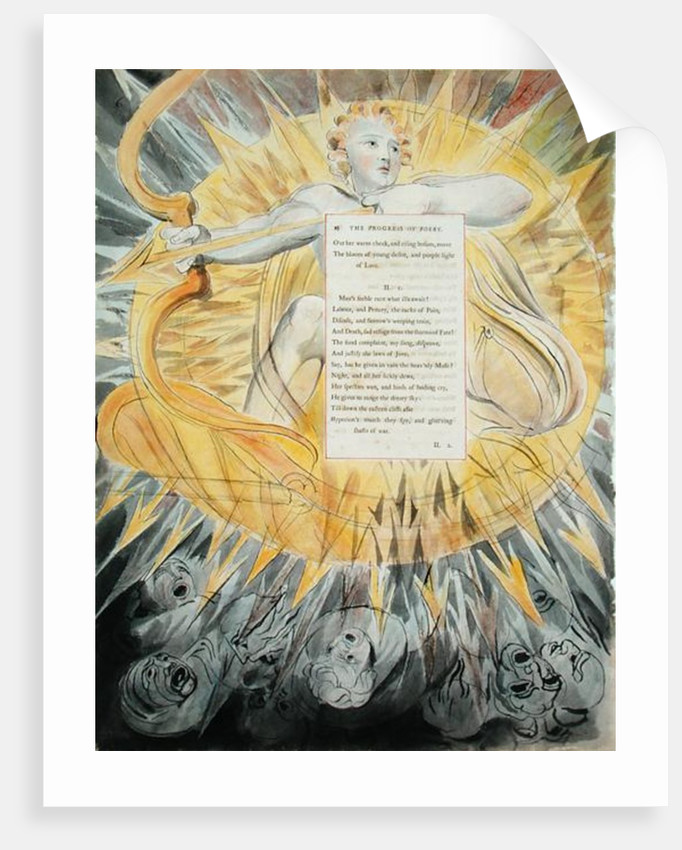 The Progress of Poesy by William Blake