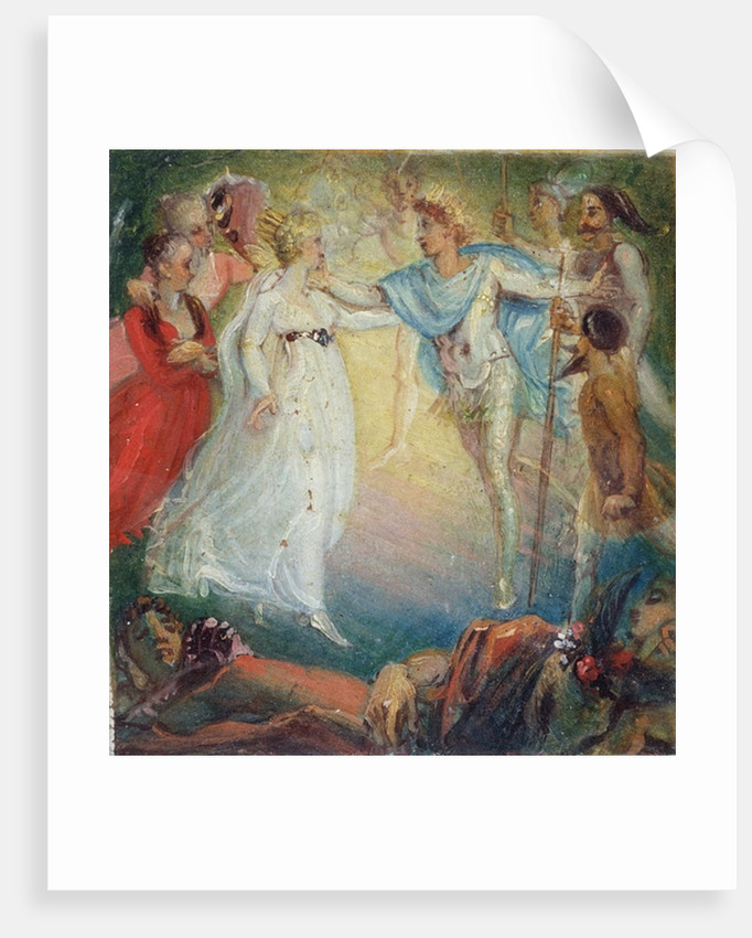 Oberon and Titania from 'A Midsummer Night's Dream' by William Shakespeare by Thomas Stothard