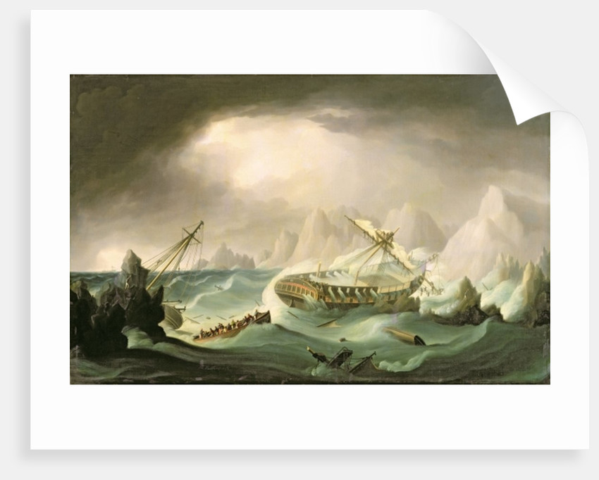 Shipwreck off a Rocky Coast by Thomas Buttersworth