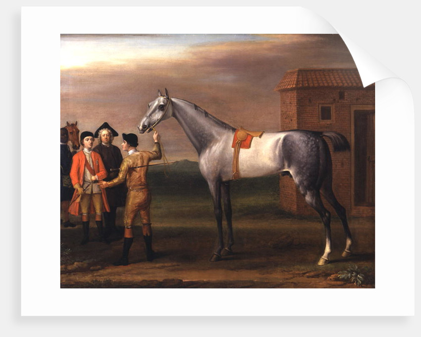 Lamprey, with his owner, Sir William Morgan, at Newmarket by John Wootton