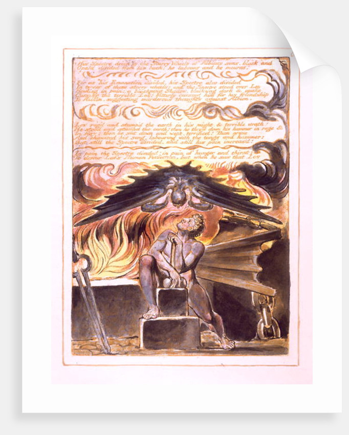 His Spectre Driv'n... by William Blake