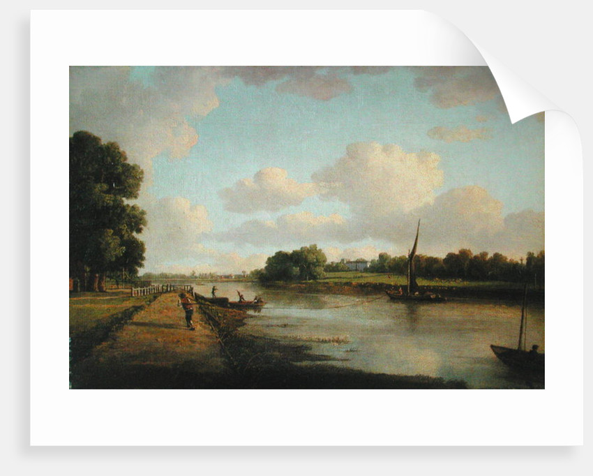 View on the River Thames at Richmond by William Marlow