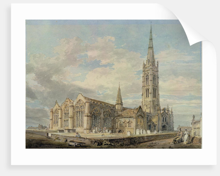 North-east View of Grantham Church, Lincolnshire by Joseph Mallord William Turner