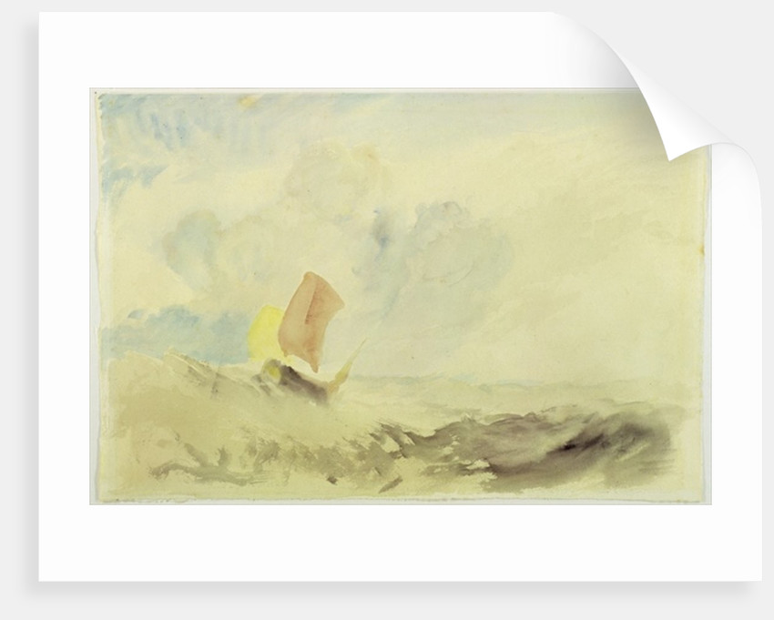 A Sea Piece - A Rough Sea with a Fishing Boat by Joseph Mallord William Turner