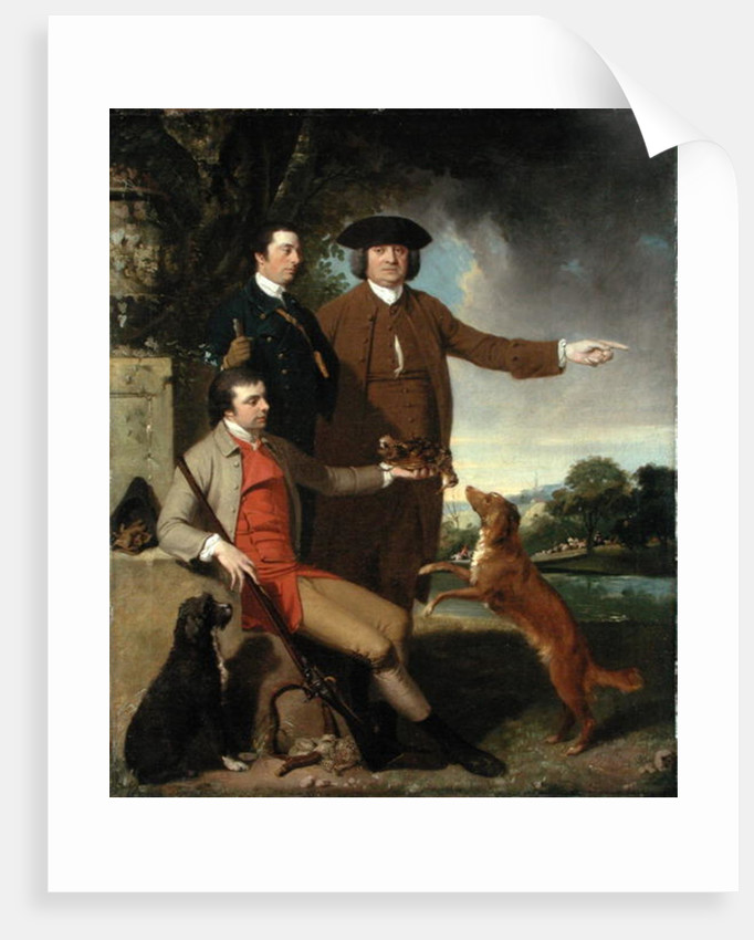 Self Portrait with Father and Brother by John Hamilton Mortimer