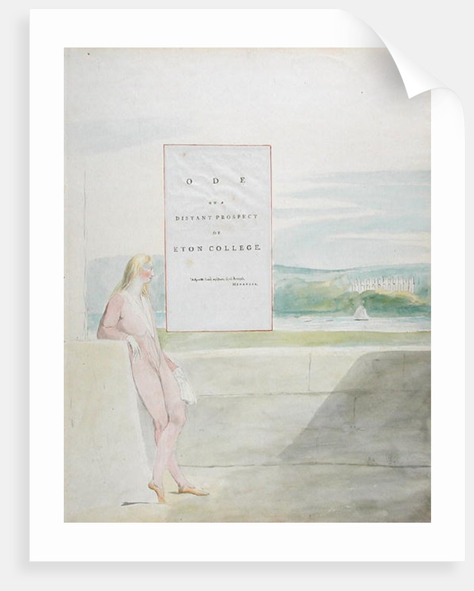 Design 13 for 'Ode on a Distant Prospect of Eton College' by William Blake