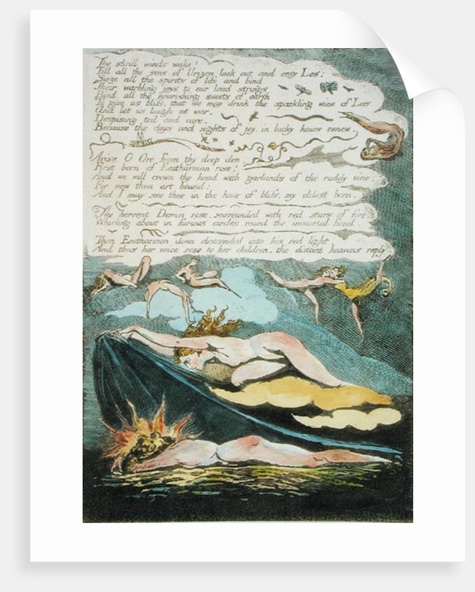 'The shrill winds wake...' by William Blake