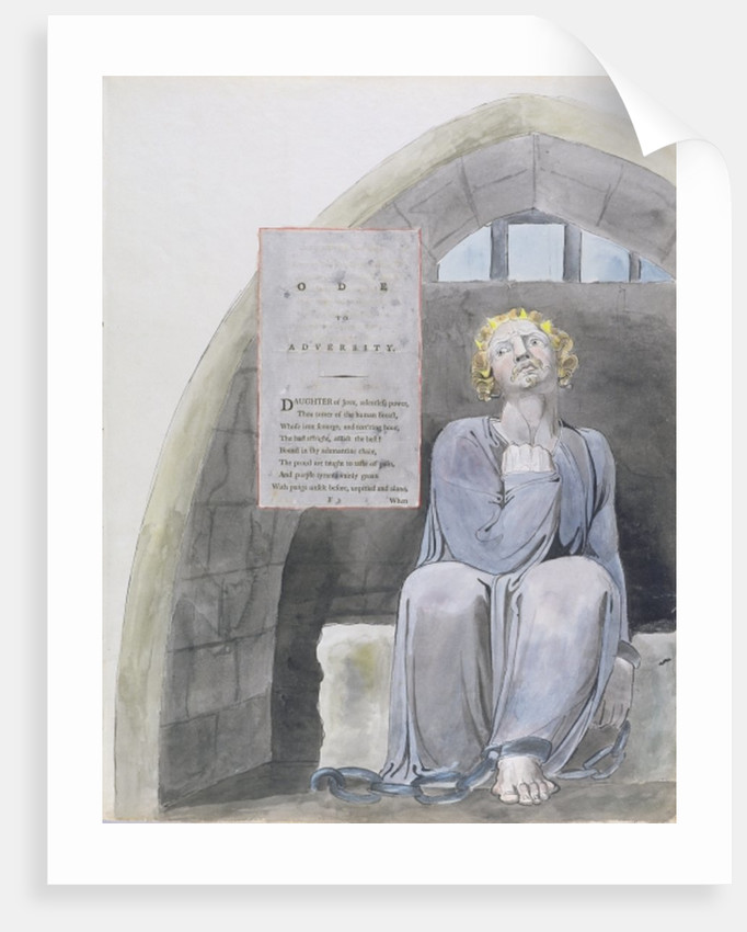Ode to Adversity, design 37 from 'The Poems of Thomas Gray' by William Blake
