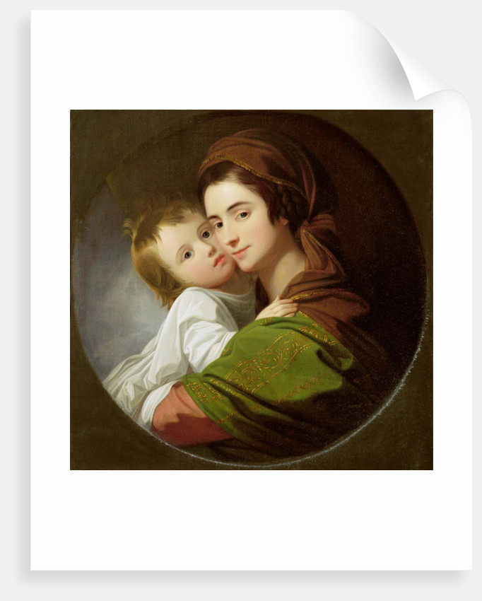 The Artist's Wife, Elizabeth, and their son Raphael by Benjamin West