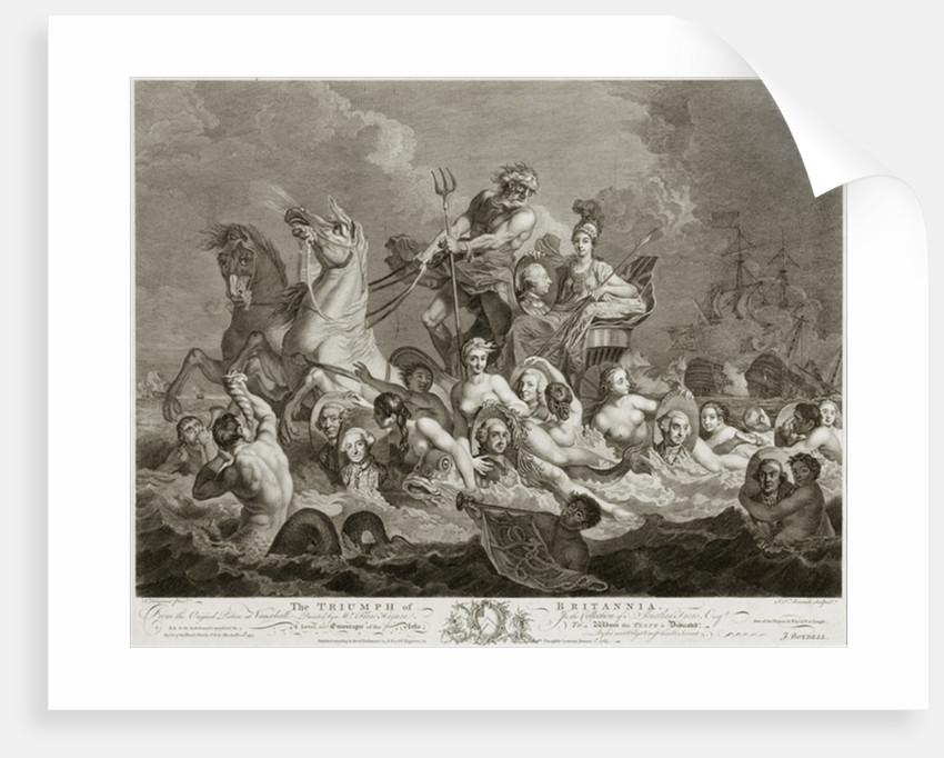 The Triumph of Britannia by Simon Francois Ravenet