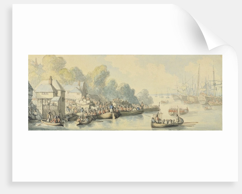Embarkation at Southampton on 20th June after Lord Howe's Action - Version B by Thomas Rowlandson