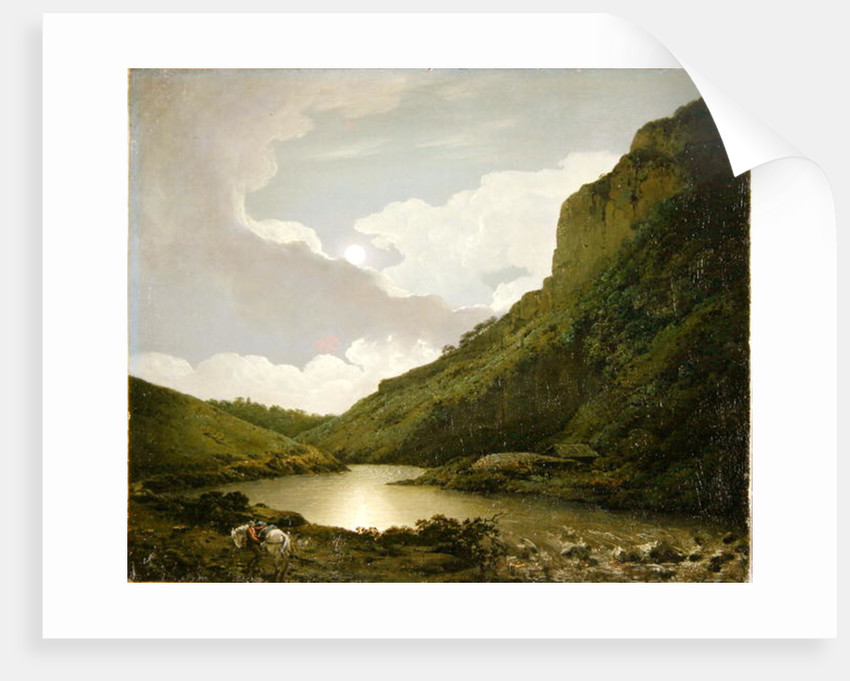 Matlock Tor by Moonlight by Joseph Wright of Derby