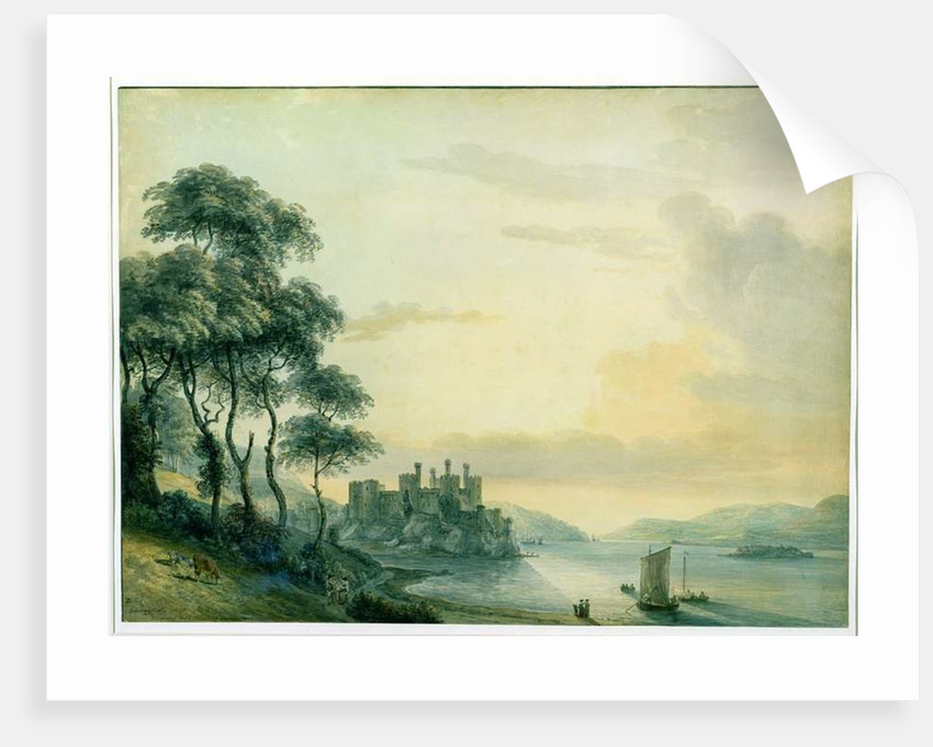 CONWAY CONWY CASTLE WALES WELSH LANDSCAPE PAINTING BRITISH ART REAL CANVAS PRINT