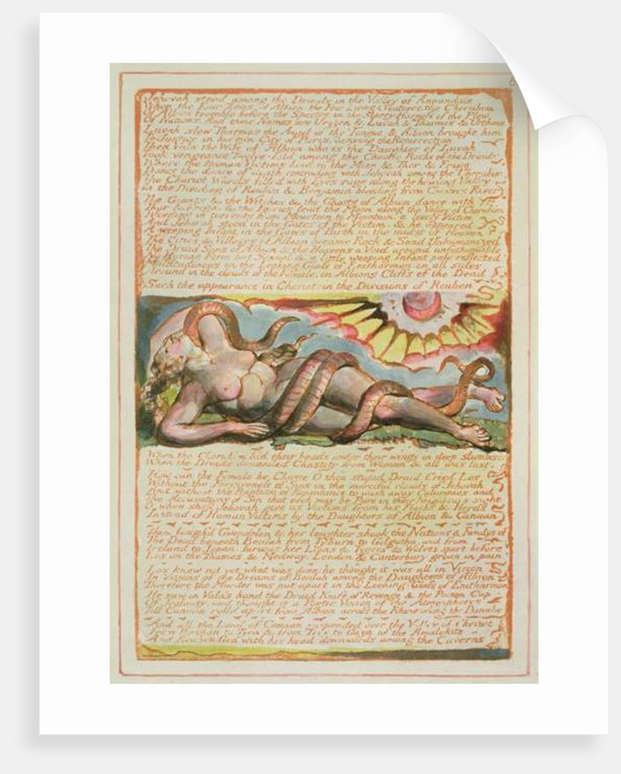 Jehovah stood among the Druids... by William Blake