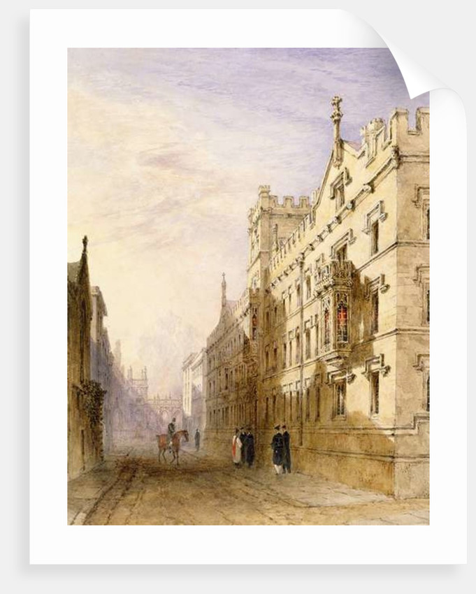 Exeter College, Oxford by Joseph Murray Ince