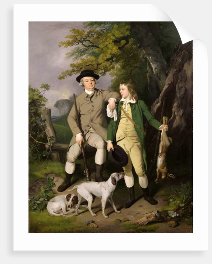 Portrait of a Sportsman with his Son by Francis Wheatley