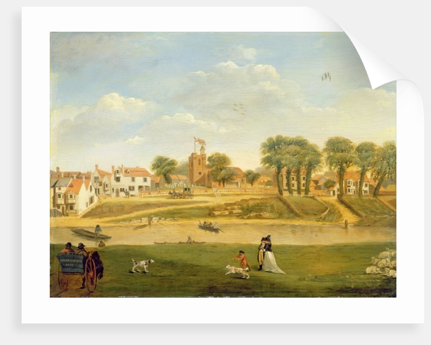 The Old Parish Church and Village, Hampton-on-Thames, Middlesex by English School
