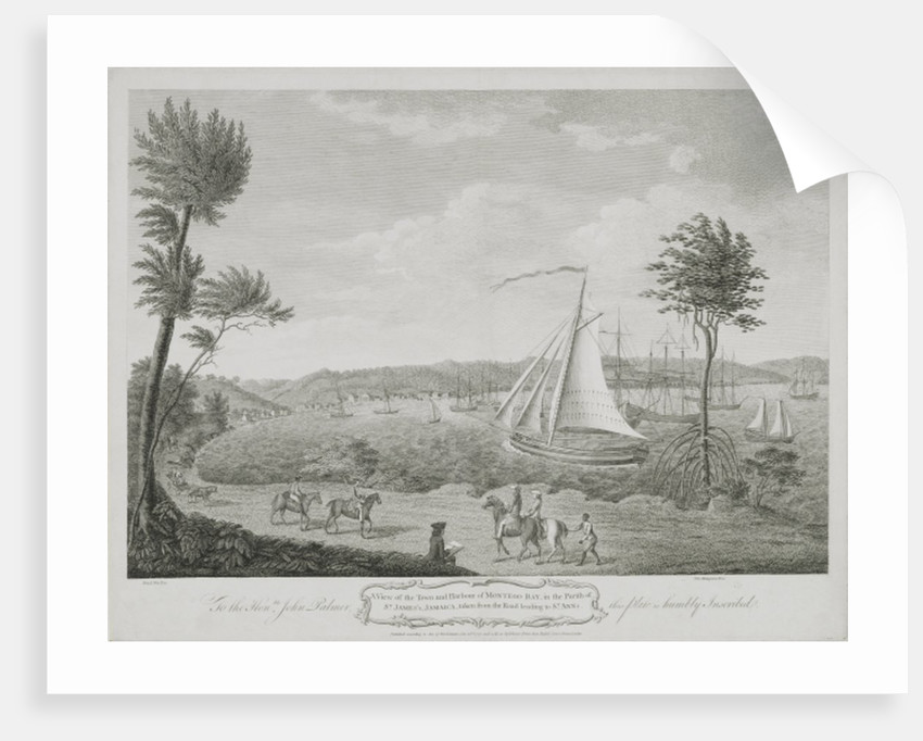 A View of the Town and Harbour of Montego Bay, in the Parish of St. James, Jamaica, taken from the Road leading to St. Ann's by English School