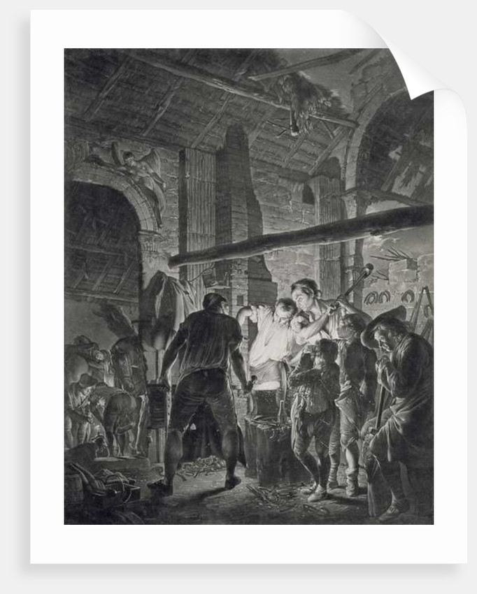 The Blacksmith's Shop by Joseph Wright of Derby