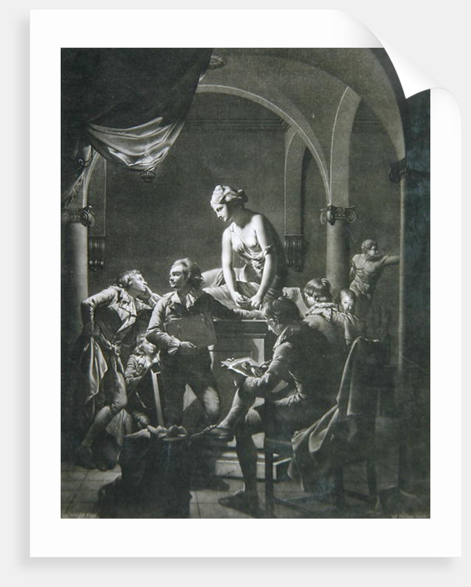 Drawing Academy, engraved by William Pether by Joseph Wright of Derby