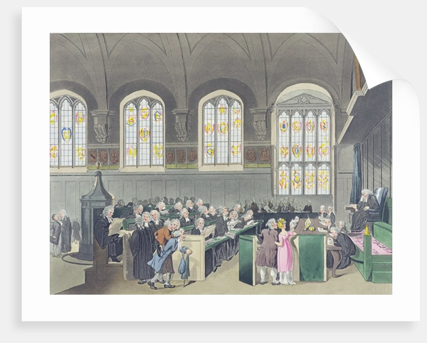 Court of Chancery, Lincoln's Inn Hall by T. & Pugin