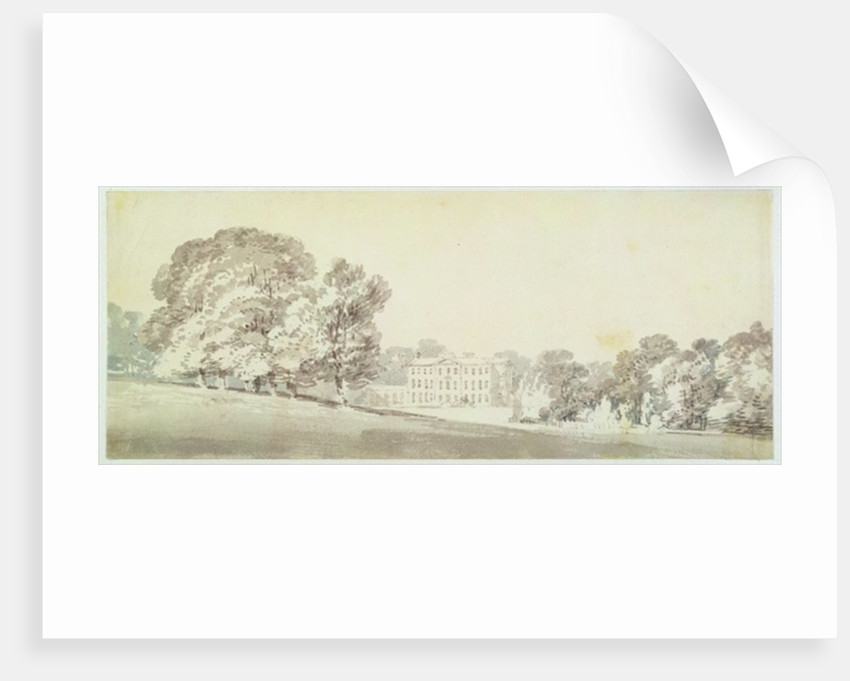 A three storied Georgian house in a park by Joseph Mallord William Turner
