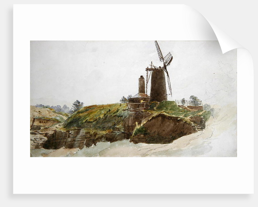 Landscape with Windmill by Thomas Creswick