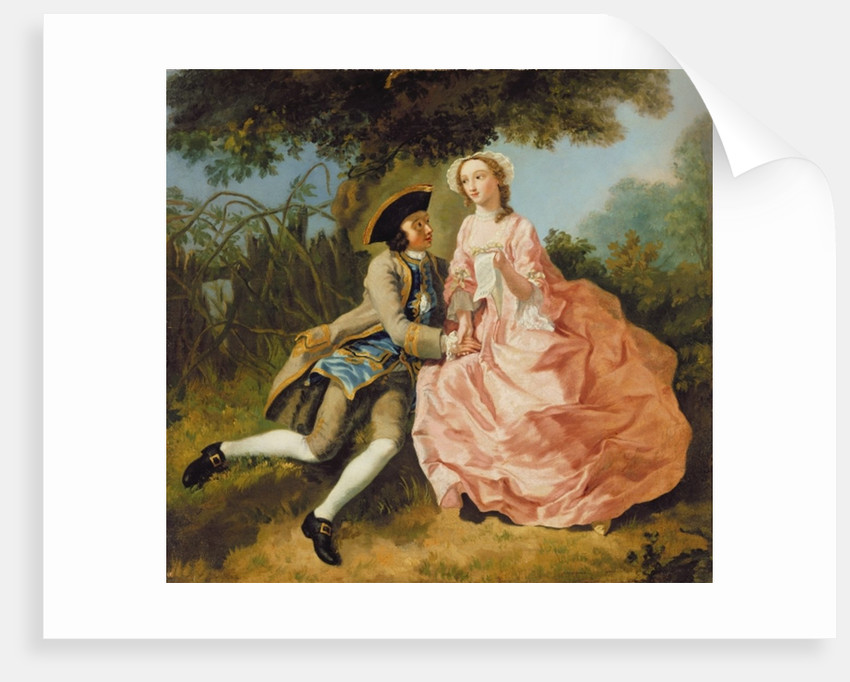 Lovers in a landscape by Pieter Jan van Reysschoot