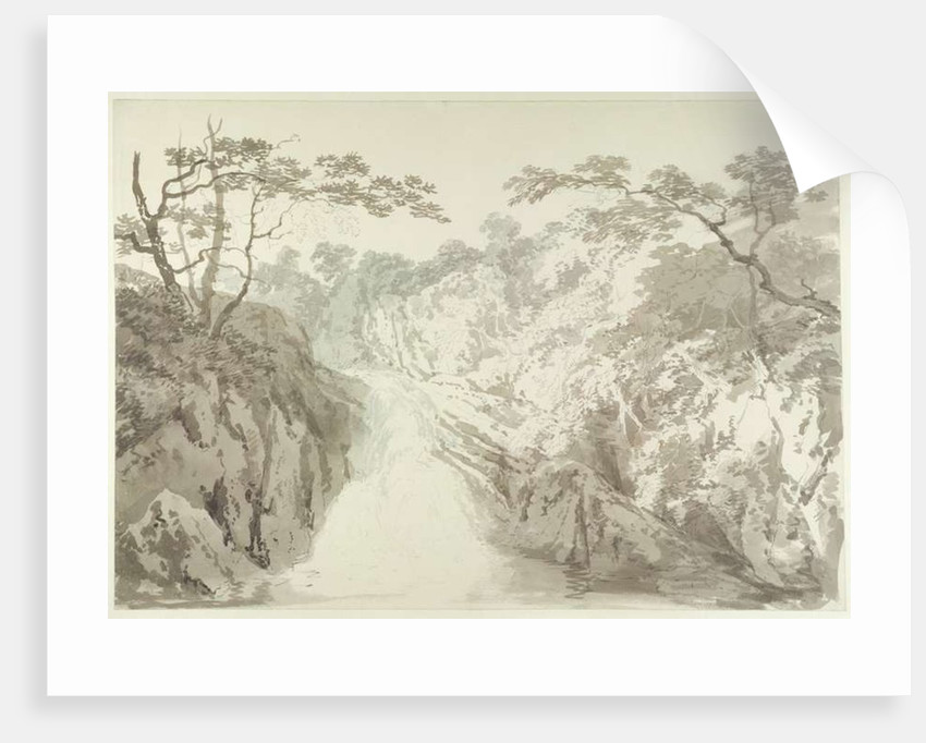 Landscape with Waterfall by Joseph Mallord William Turner