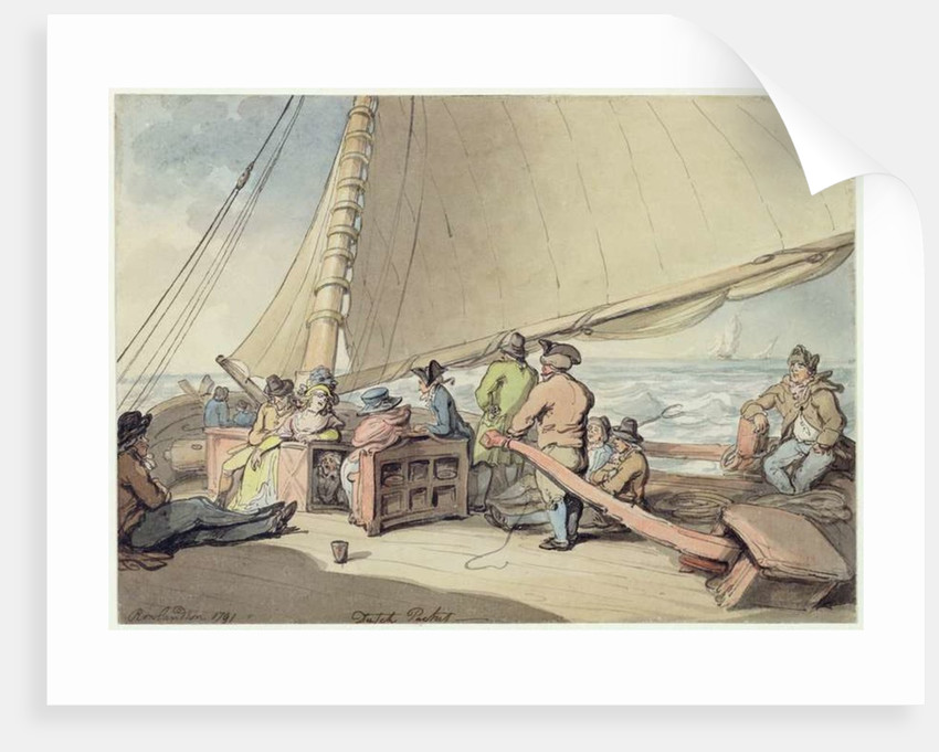 A Dutch Packet in a Rising Breeze by Thomas Rowlandson