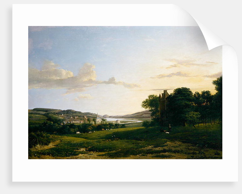 A View of Cessford and the Village of Caverton, Roxboroughshire in the Distance by Patrick Nasmyth