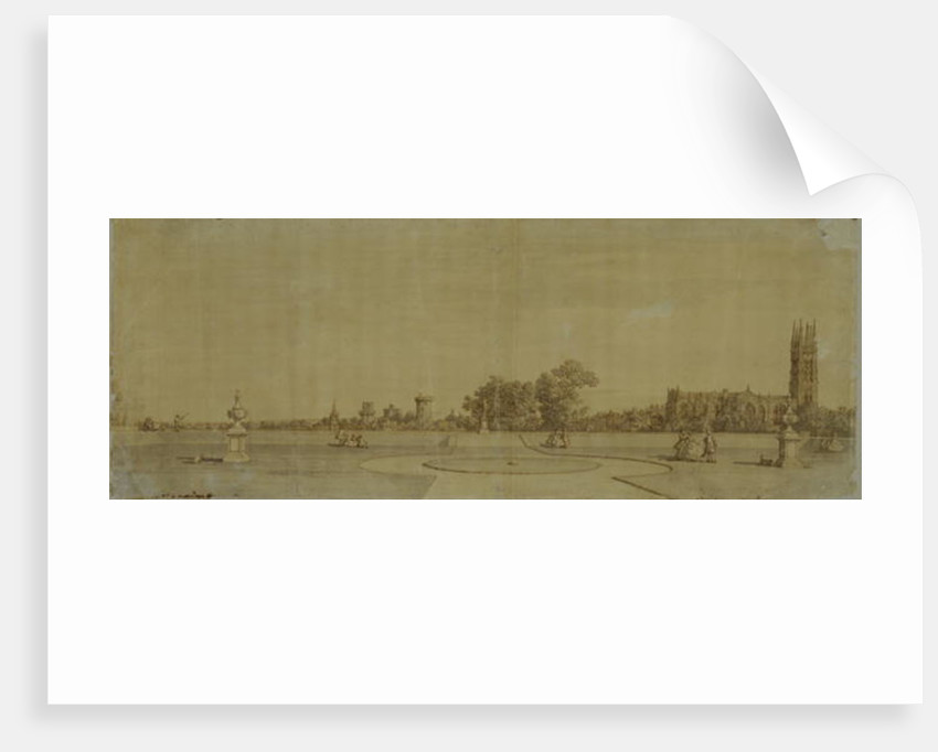 Warwick: The Town and Castle from the Priory Gardens by Canaletto