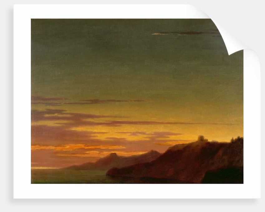 Close of the Day: Sunset on the Coast by Alexander Cozens
