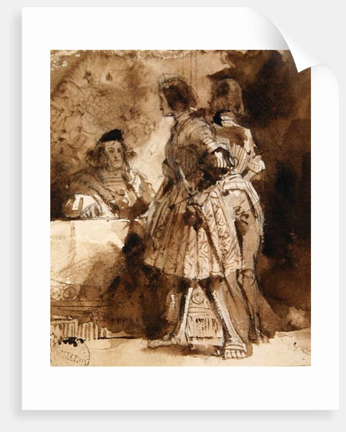 Goetz von Berlichingen before the Imperial Magistrate by Richard Parkes Bonington
