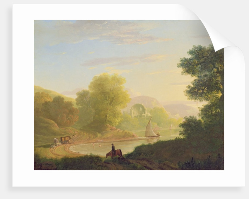 An Imaginary Coast Scene, with the Temple of Venus at Baiae by Thomas Jones