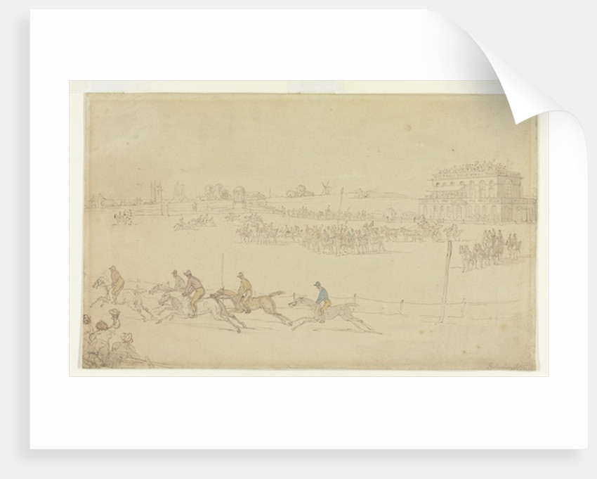 A Race of the Knavesmire at York by Thomas Rowlandson