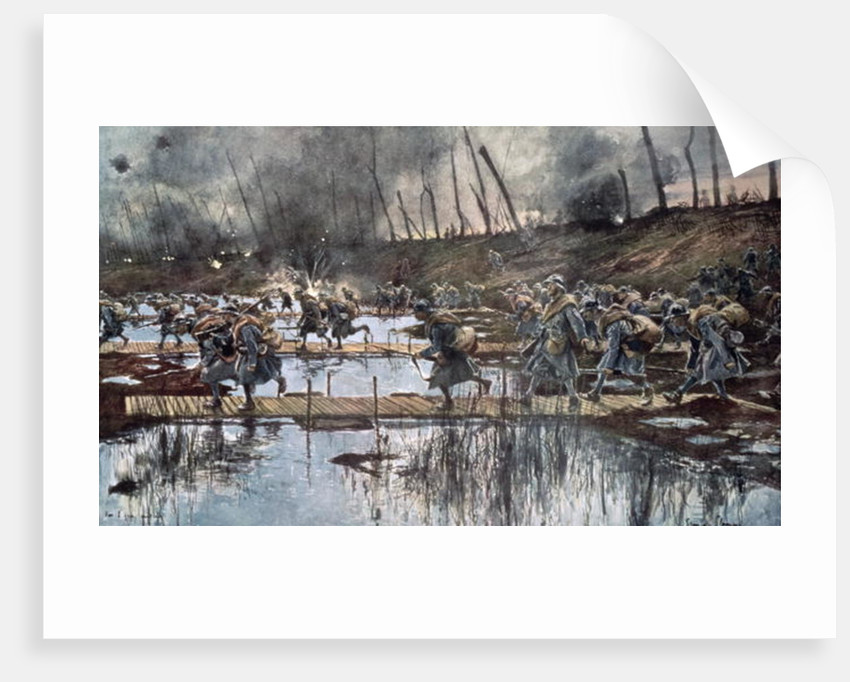 The Battle of the Yser in 1914 by Francois Flameng