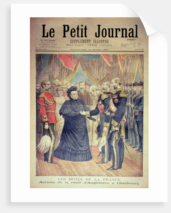The French Hosts: the Arrival of the Queen of England at Cherbourg by Henri Meyer