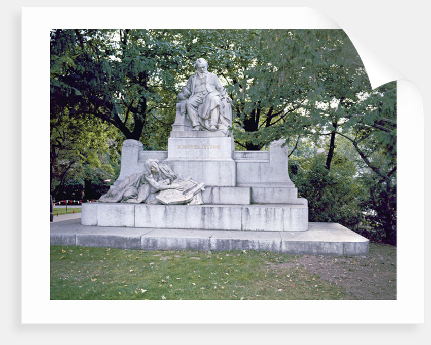 Monument to Johannes Brahms by Rudolf von Weyr
