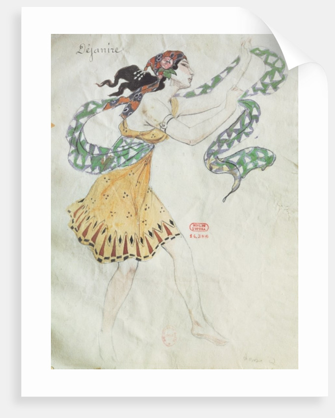 Costume design for Delilah from the opera 'Samson and Delilah' by Charles Camille Saint-Saens by French School