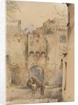 Gate at the top of the Old Town, San Remo, 1877 by George Douglas Tinling