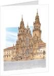 Santiago de Compostela. Western façade. Spain by Fernando Aznar Cenamor